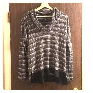 WHBM black and white striped sweater